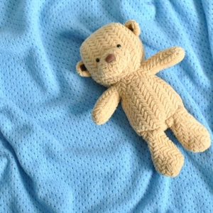 100% cashmere blue baby blanket