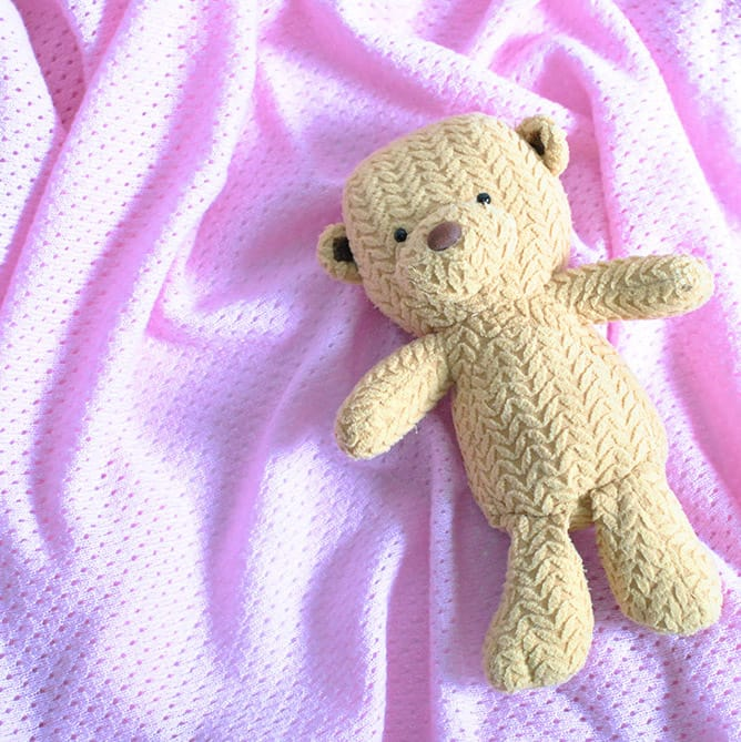 100% cashmere pink baby blanket