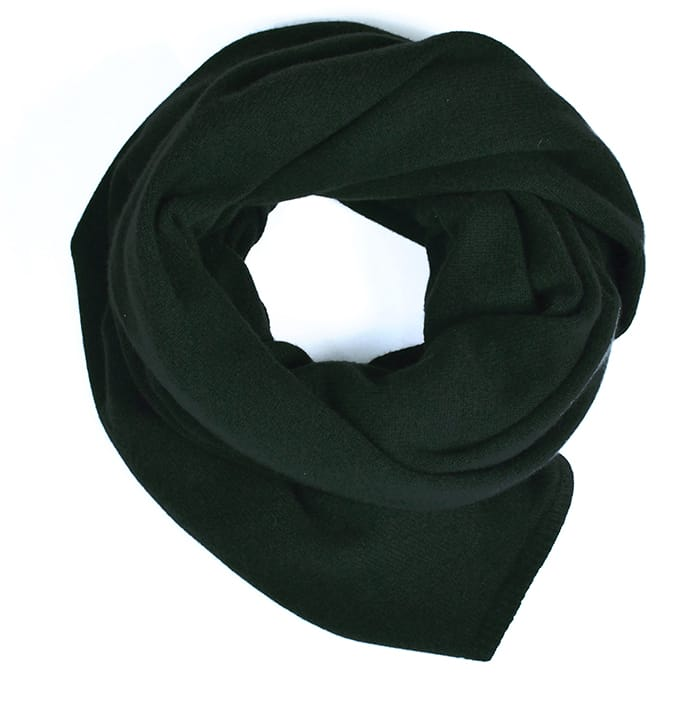 100% cashmere stole in green