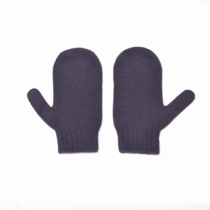100% cashmere mittens in grape