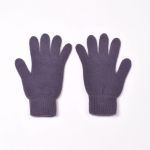 100% cashmere full finger gloves in light grape