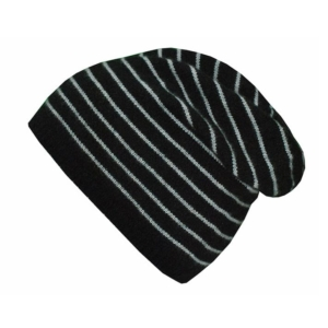 Cashmere Striped Black Slouchy