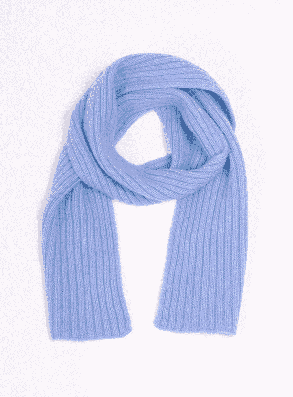 Pink And Ginger 100% cashmere blue children scarf