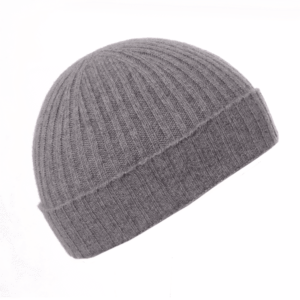 Pink and Ginger 100% cashmere Grey beanie