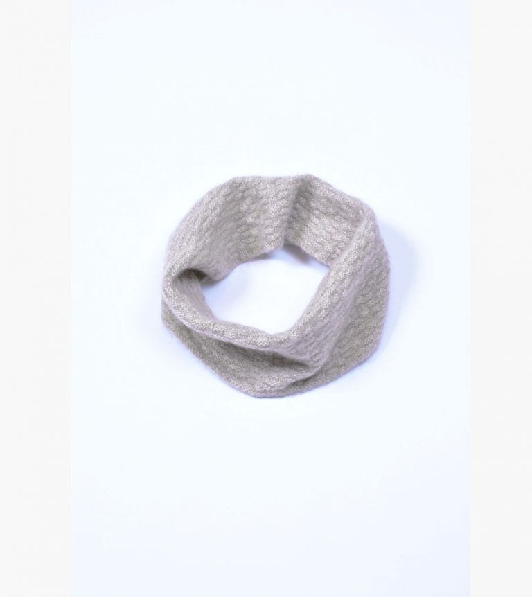 pink and ginger 100% cashmere lightstone neckwarmer