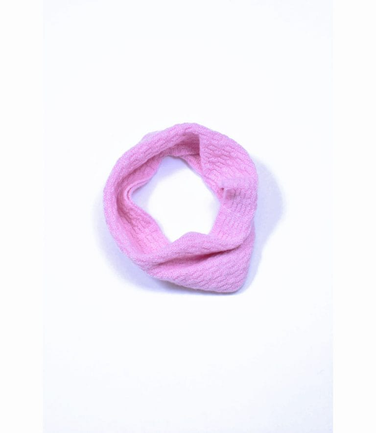 pink and ginger 100% cashmere pink neckwarmer