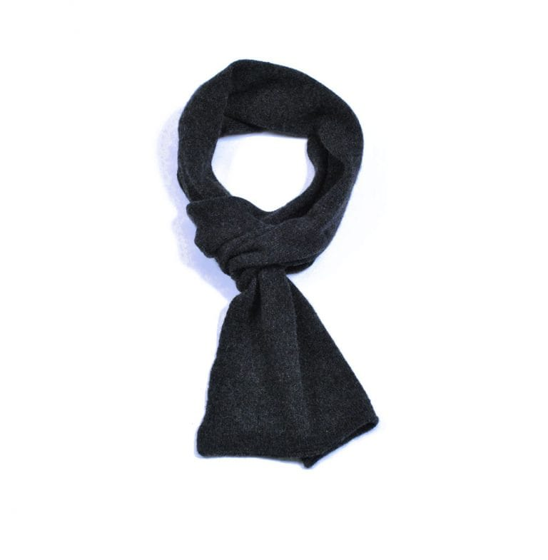 pink and ginger 100% cashmere charcoal scarf