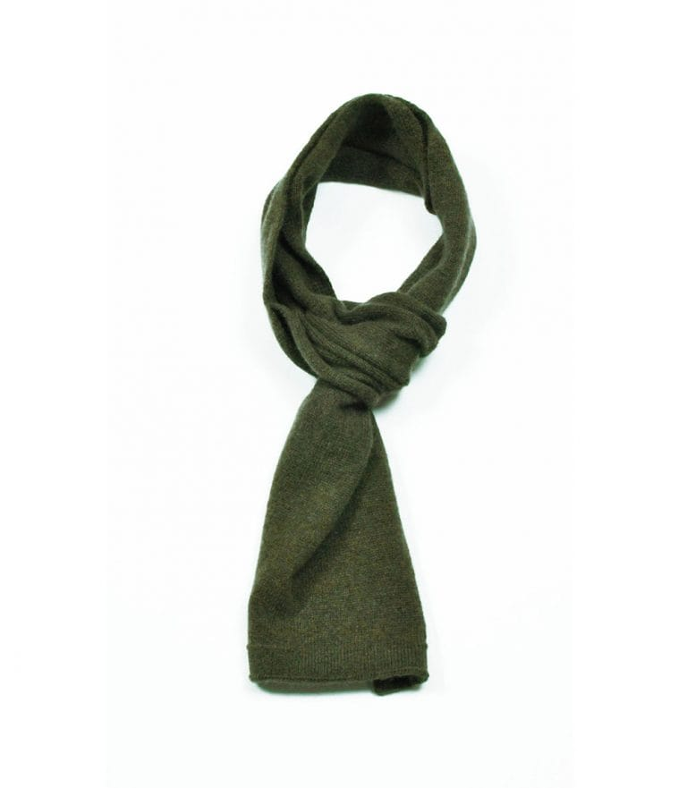 pink and ginger 100% cashmere khaki scarf