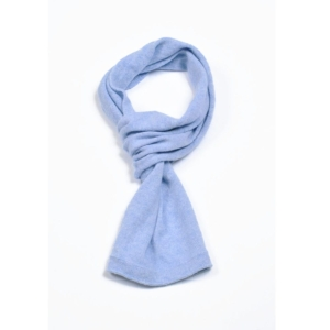 pink and ginger 100% cashmere lightblue scarf