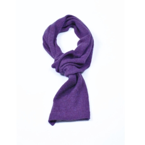 pink and ginger 100% cashmere purple scarf