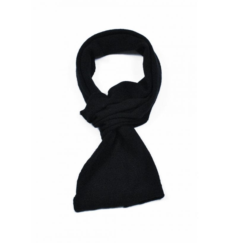 pink and ginger 100% cashmere black scarf