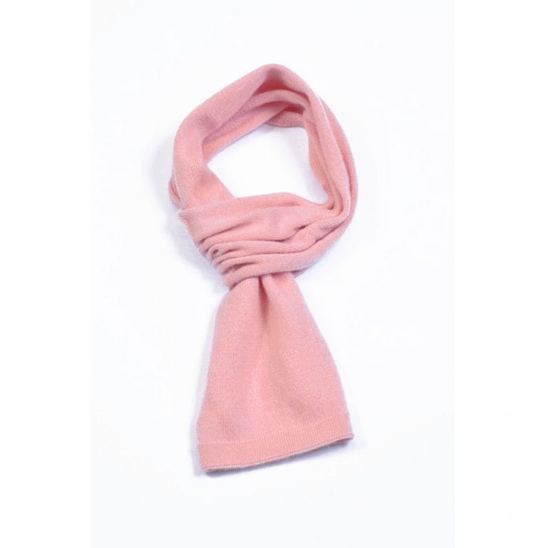 pink and ginger 100% cashmere dustpink scarf