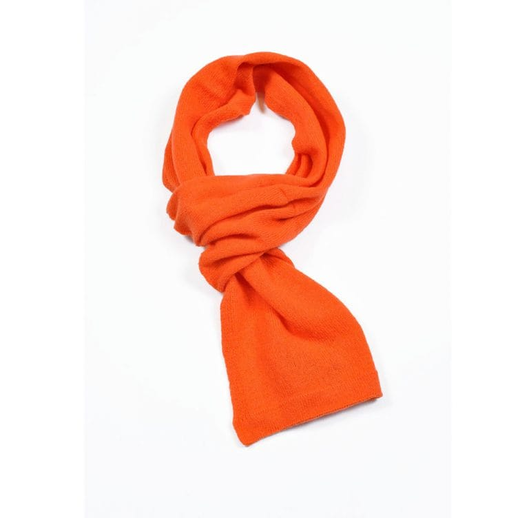 pink and ginger 100% cashmere orange scarf