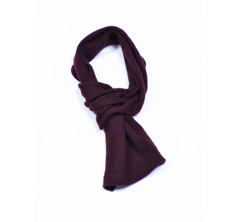 pink and ginger 100% cashmere plum scarf