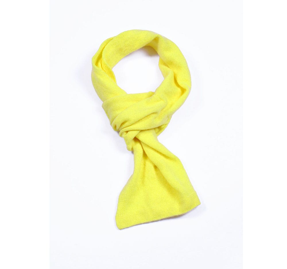 pink and ginger 100% cashmere yellow scarf