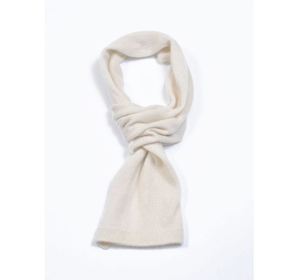 pink and ginger 100% cashmere winterwhite scarf