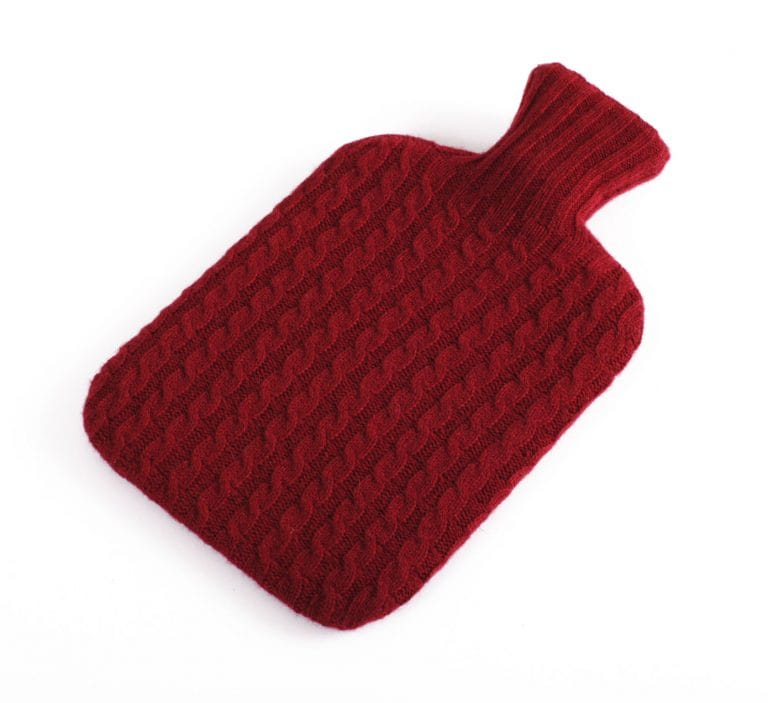 pink and ginger 100% wine hot water bottle