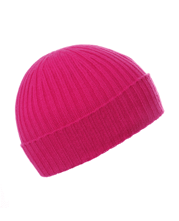 Pink and Ginger 100% cashmere cerise beanie