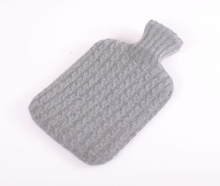 pink and ginger 100% grey hot water bottle