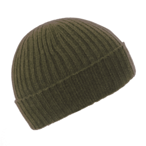 Pink and Ginger 100% cashmere khaki beanie
