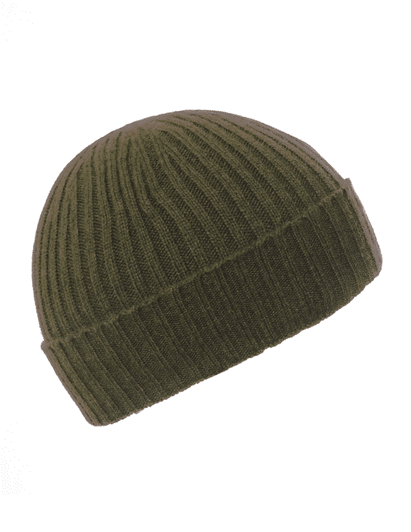 f9d007482b8 Children s Khaki Ribbed Beanie - Pink and Ginger - 100% Cashmere