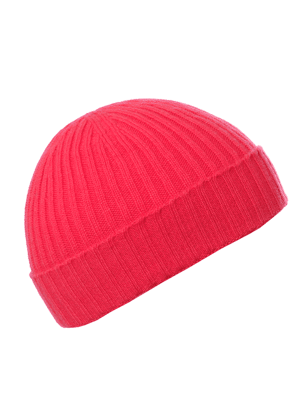 f0d607ed91f Children s Lust Ribbed Beanie - Pink and Ginger - 100% Cashmere