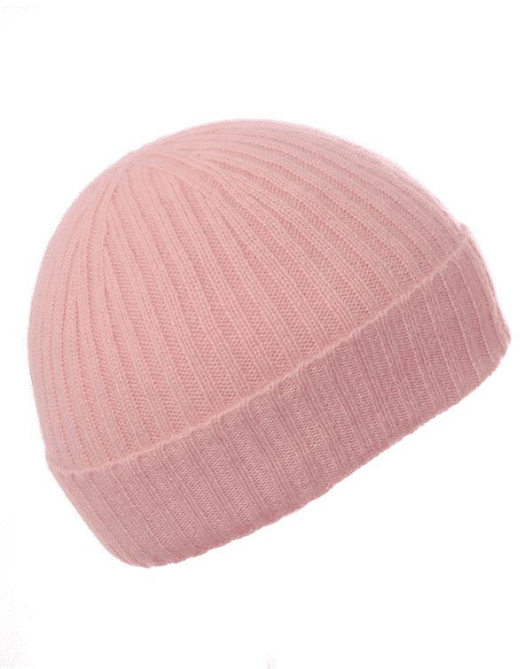 Pink and Ginger 100% cashmere dusty pink beanie