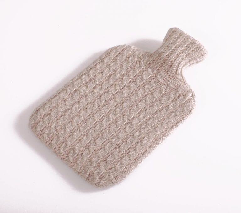 pink and ginger 100% stone hot water bottle