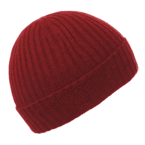 Pink and Ginger 100% cashmere Wine beanie