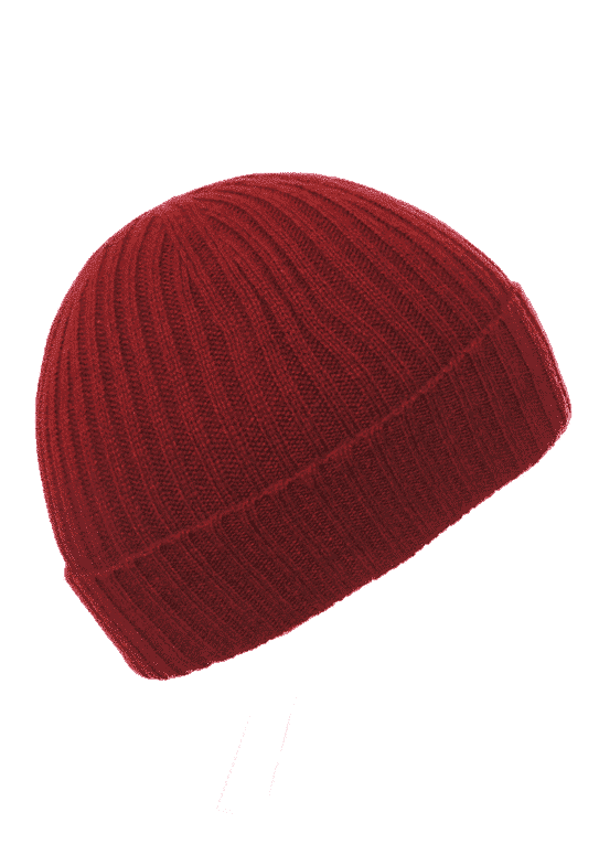 218425a1c67 Children s Wine Ribbed Beanie - Pink and Ginger - 100% Cashmere