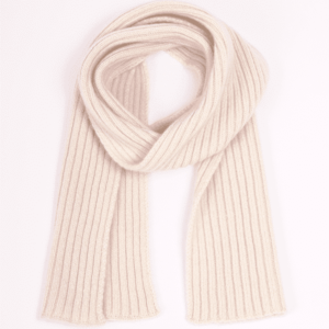 Pink And Ginger 100% cashmere winter white children scarf
