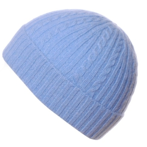 Pink and Ginger 100% cashmere blue childrens beanie