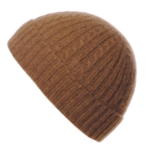 Pink and Ginger 100% cashmere hazelnut childrens beanie