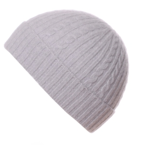 Pink and Ginger 100% cashmere winter white childrens beanie