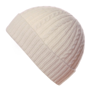 Pink and Ginger 100% cashmere winterwhite childrens beanie