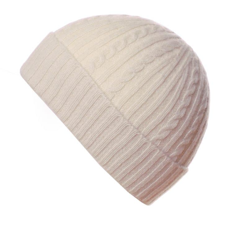 Pink and Ginger 100% cashmere winterwhite childrens beanie