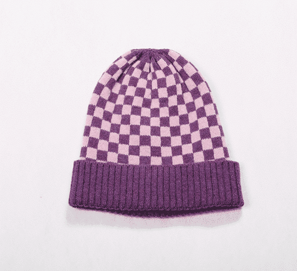 Pink and ginger 100% cashmere pink/purple beanie